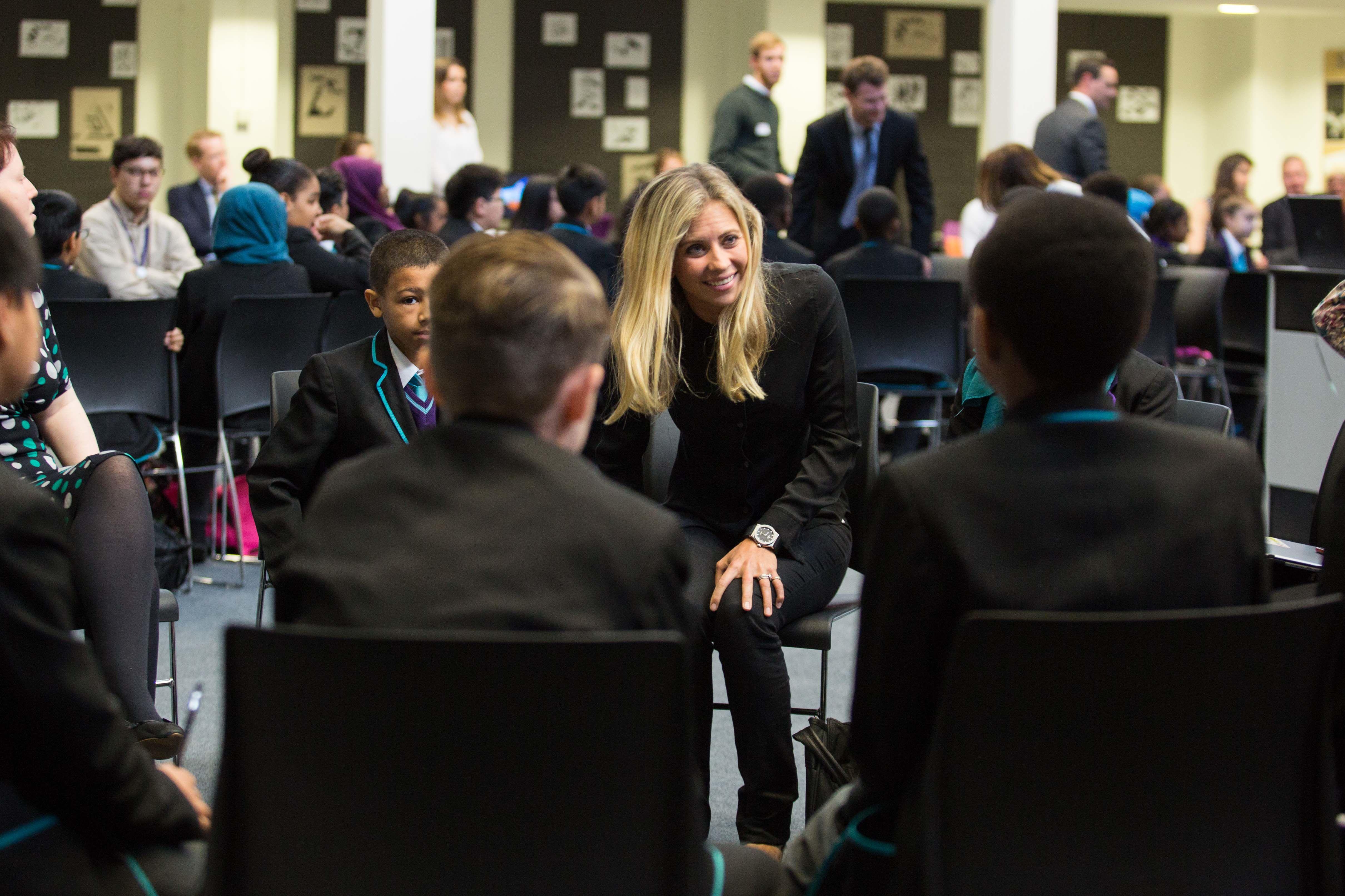 Holly Branson, Big Change, school visit 2016, Adam Slama