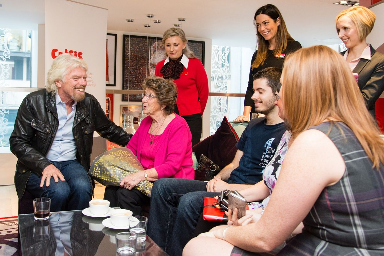 Richard Branson Virgin Money Manchester