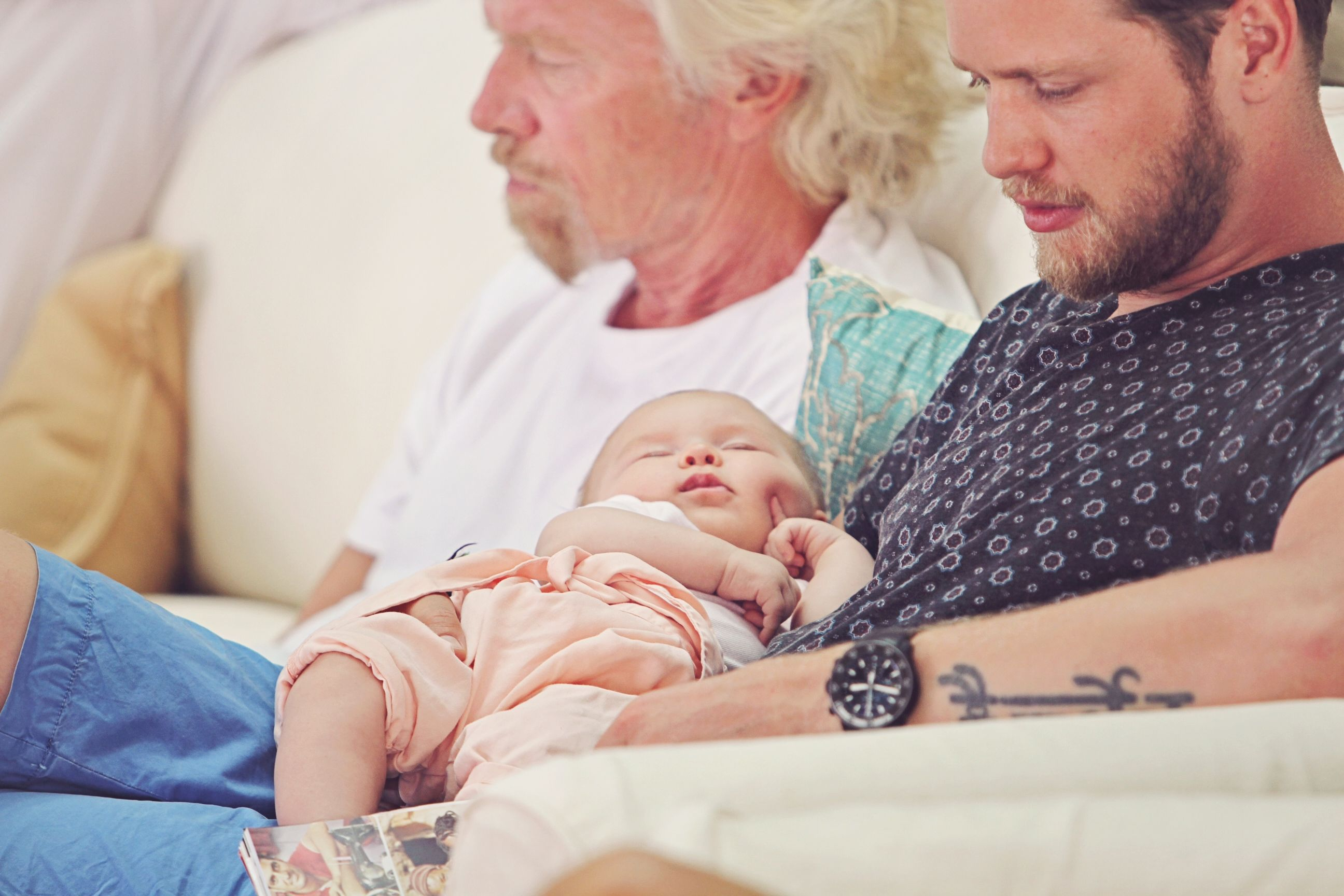 Richard Branson Sam Branson and Eva-Deia