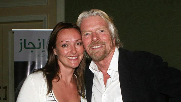 Richard Branson and personal assistant Helen Clarke