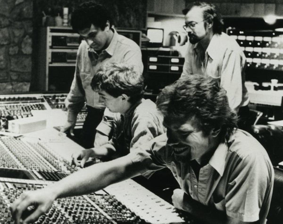 Richard Branson at the Manor recording music