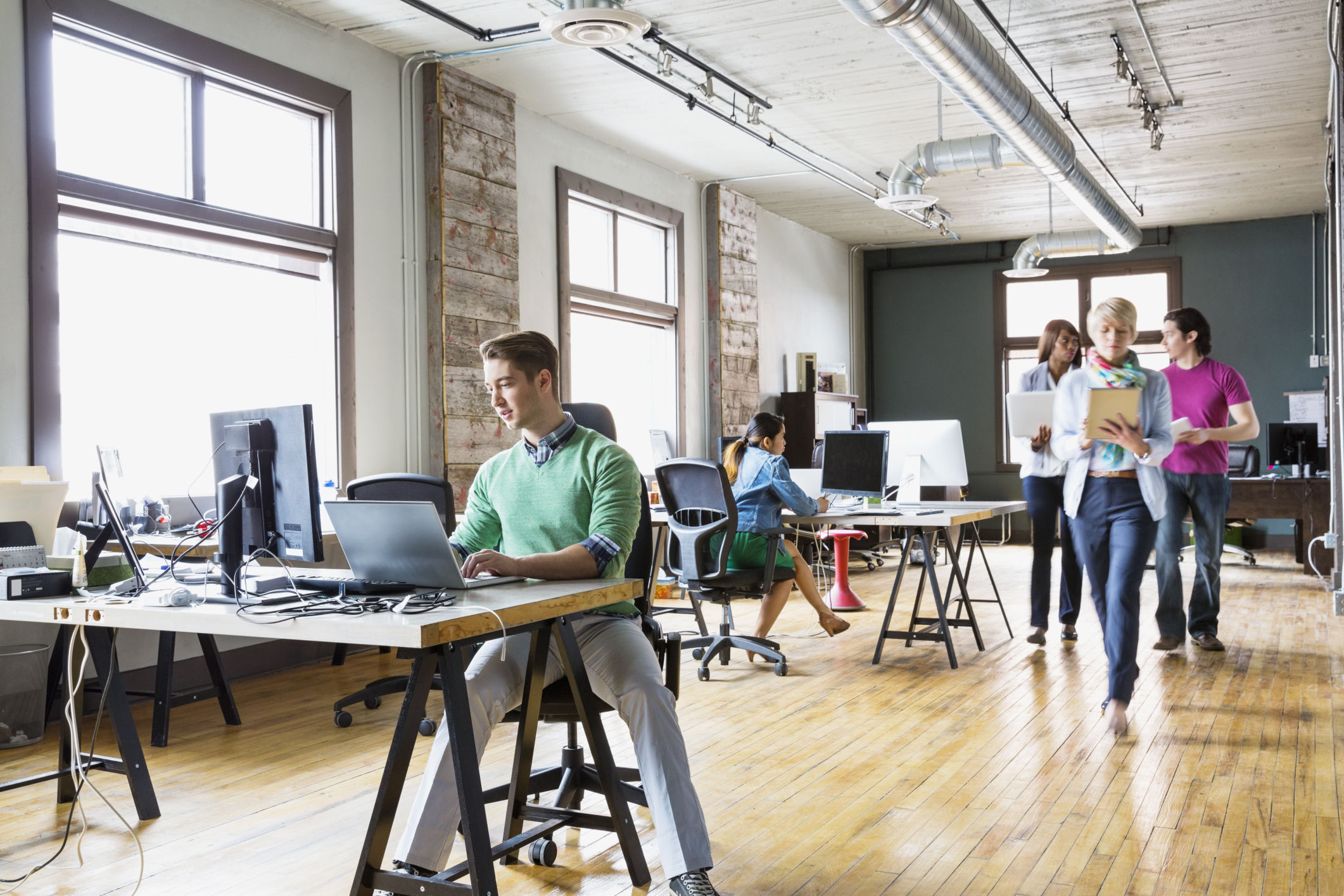 Can convergent design enhance productivity creativity and for Office design wellbeing