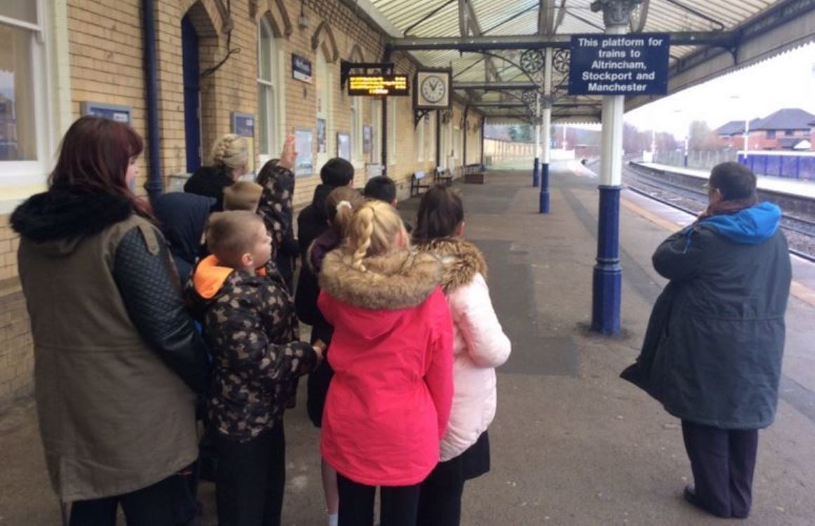 Miss Tillotson Year 6 student trains excursion