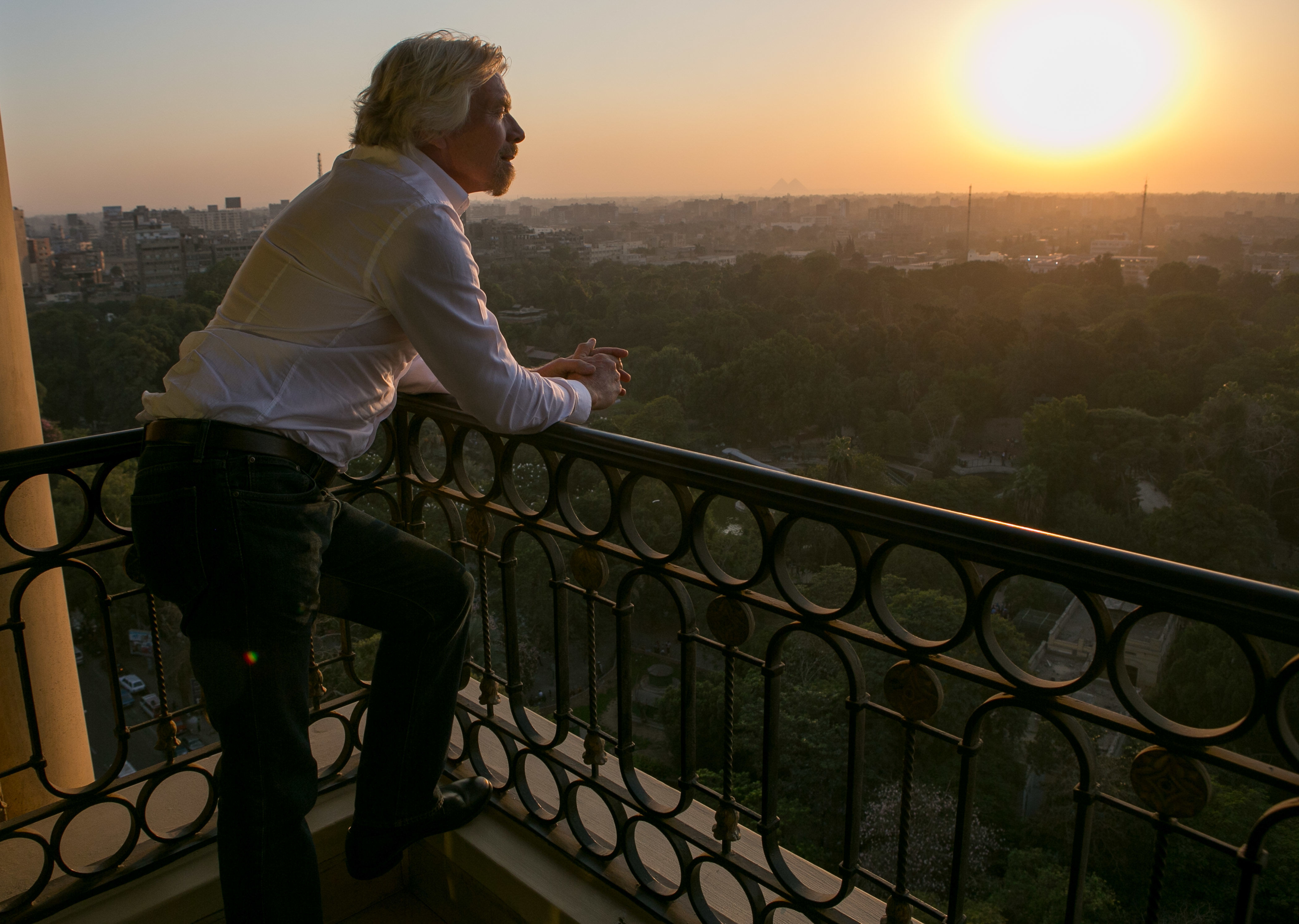 Richard Branson looking over Cairo, Egypt