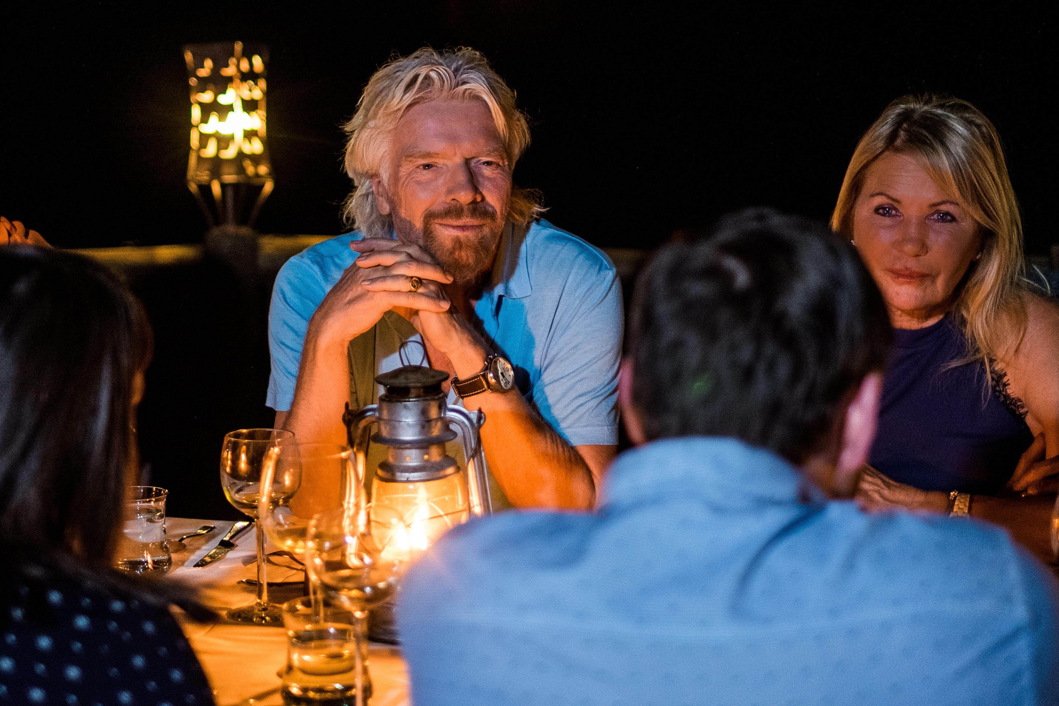 Richard Branson dinner at Ulusaba