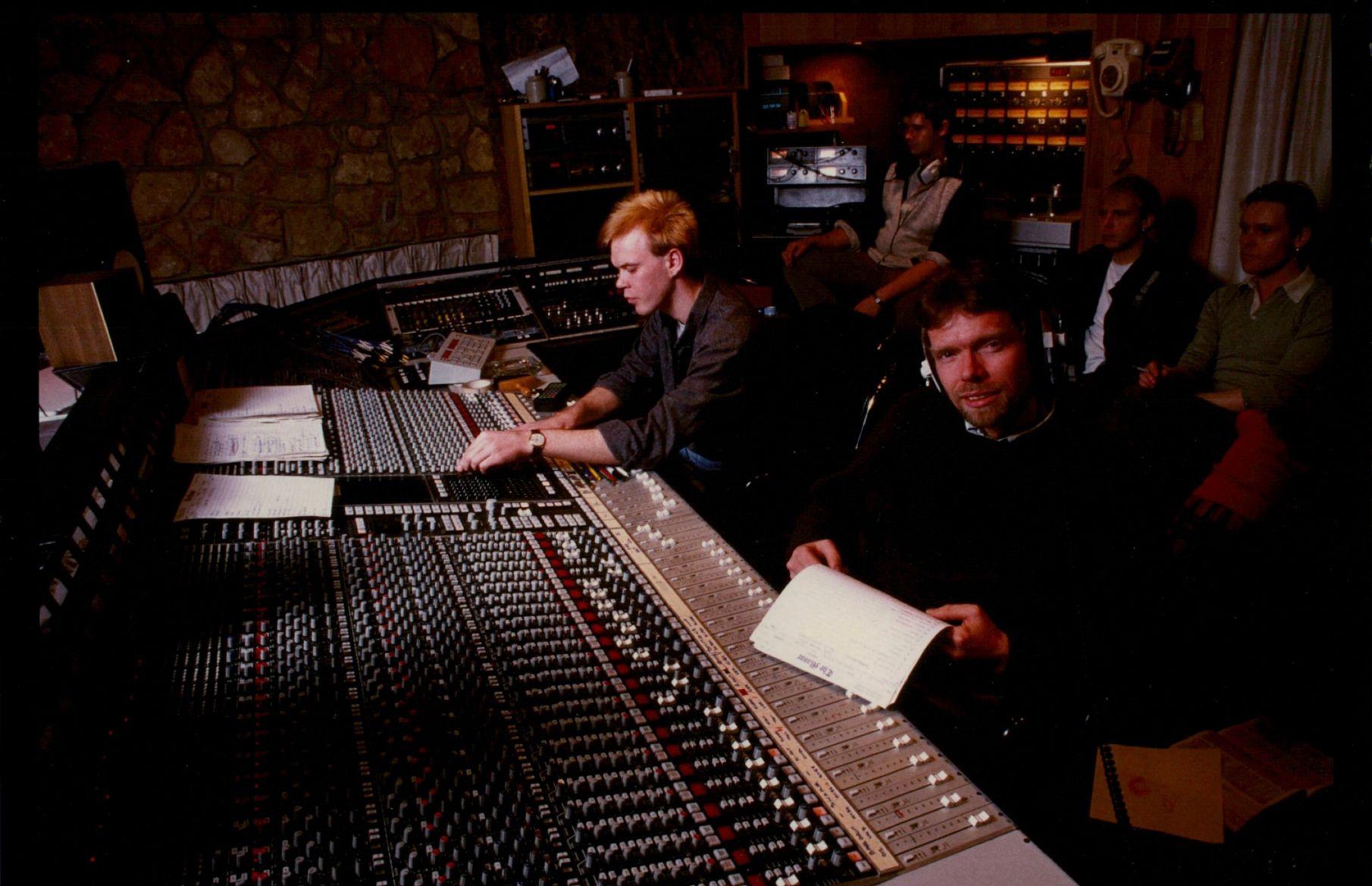 richard branson in virgin records studio
