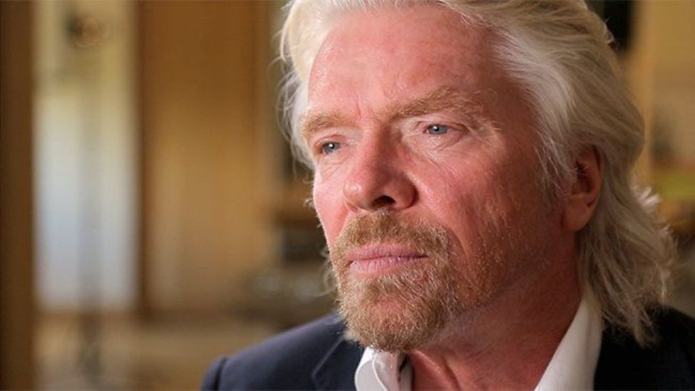 Richard Branson stern look
