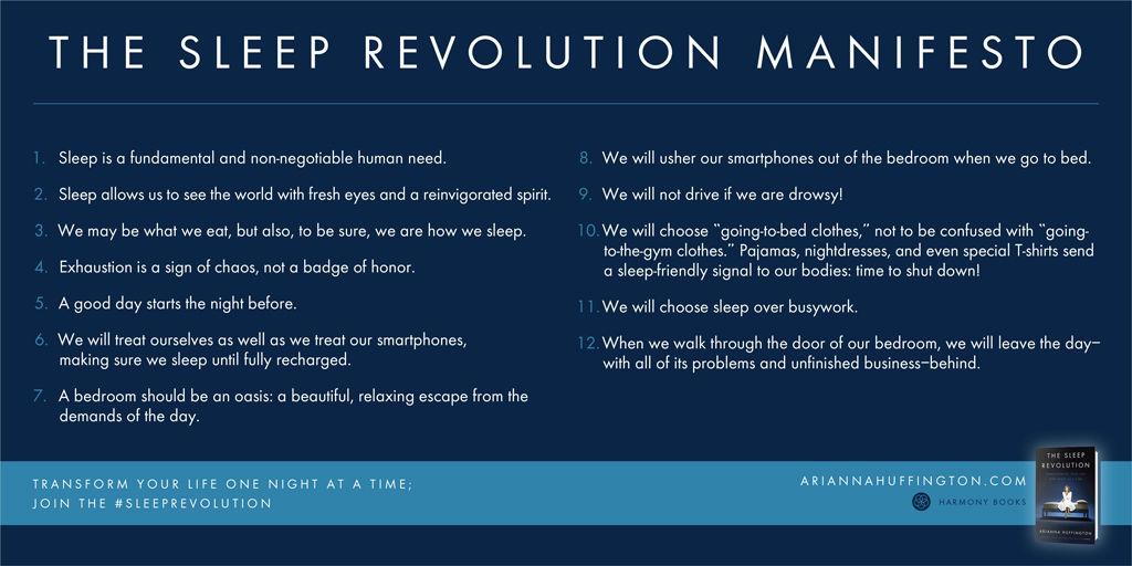 Arianna's Sleep Revolution 12 tips