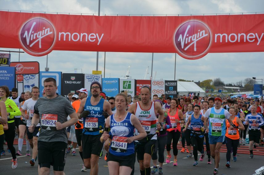 Runners in the 2016 Virgin Money London Marathon