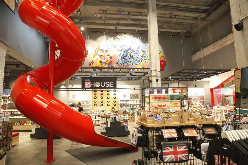 Virgin Megastore Yas Mall concept store slide