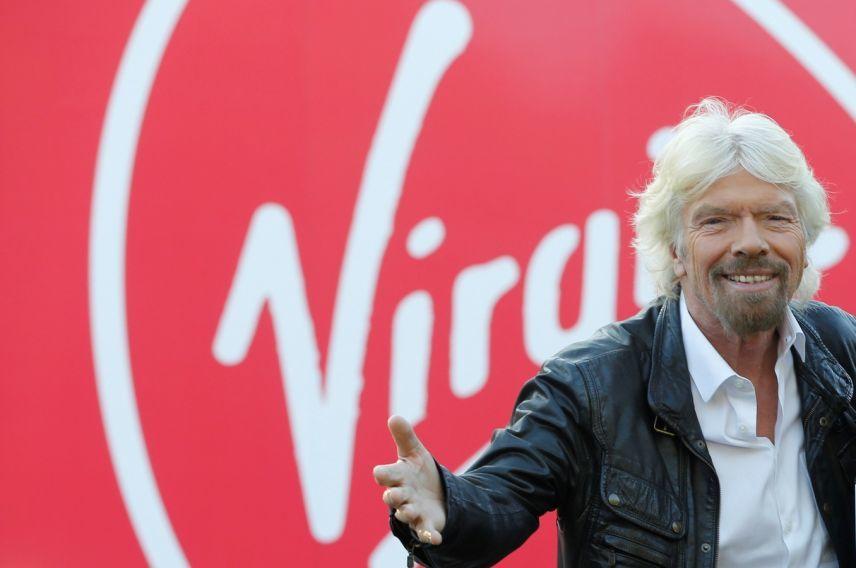 Richard Branson and Virgin branding