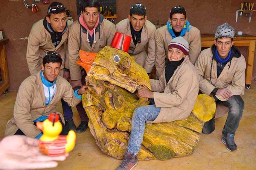 Virgin Unite, Eve Branson Foundation, woodwork centre, give a flying duck