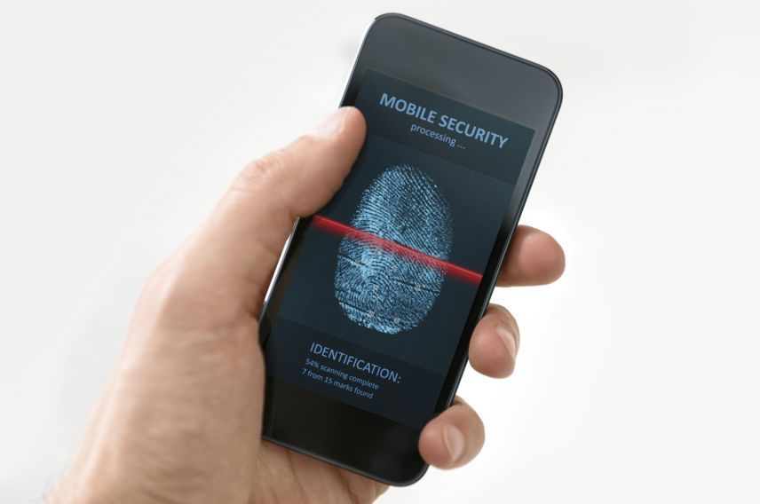 Biometric mobile security getty
