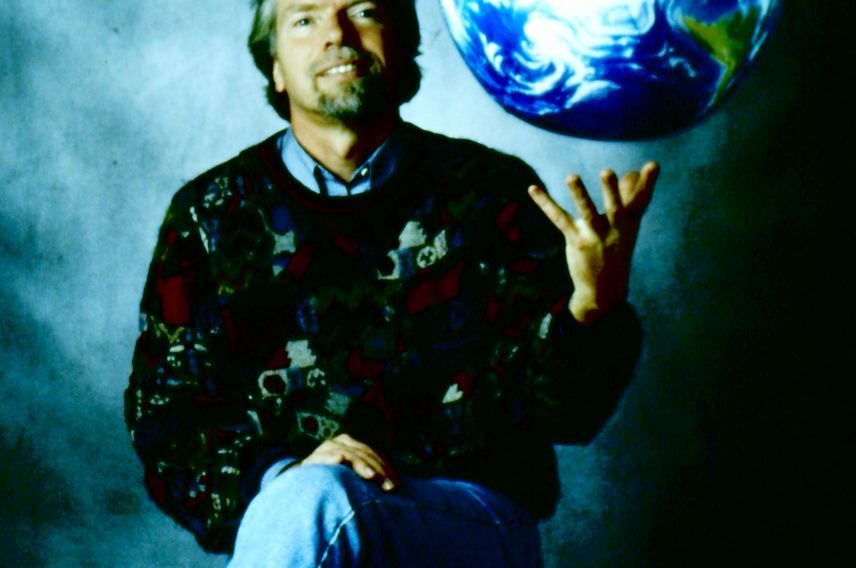 Richard Branson Earth globe