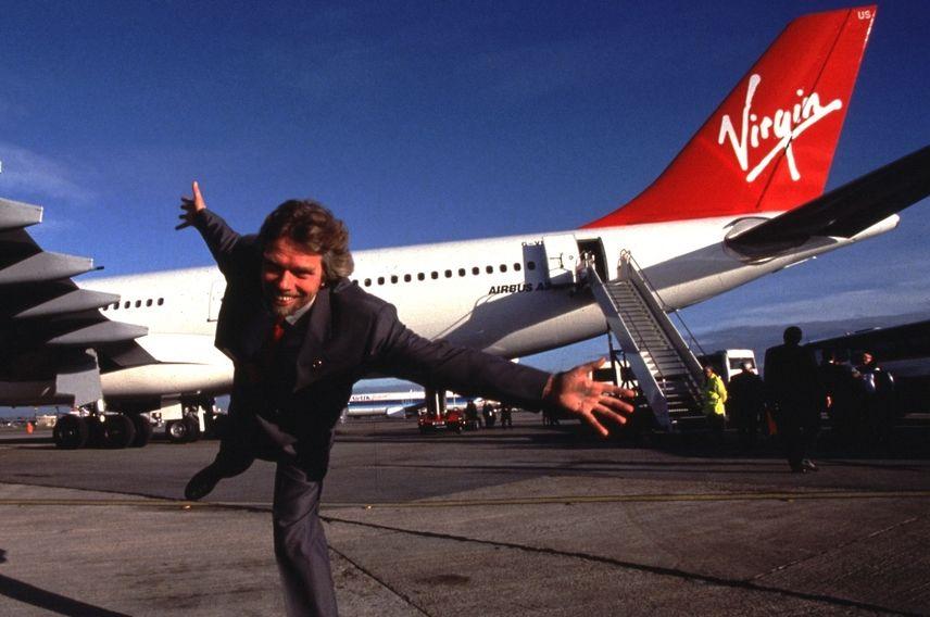 Richard Branson Virgin Atlantic plane