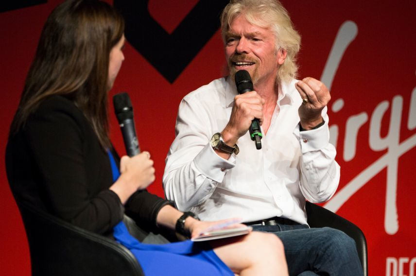 Richard Branson and Holly Ransom Virgin Disruptors 2016
