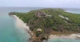 A drone's eye view of Necker Island
