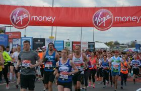 Runners in the 2016 Virgin Money London Marathon