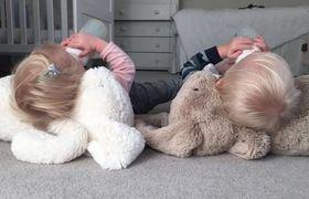 Holly Branson, babies, Etta and Artie, 2016