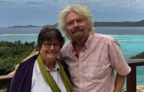 Richard Branson and Sister Helen