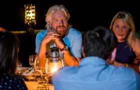 Richard Branson dinner at Ulusaba