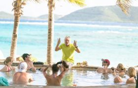 Richard Branson Necker Island pool