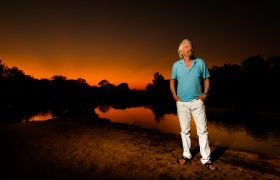 Richard Branson kenya sunset