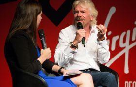 Richard Branson and Holly Ransom Virgin Disruptors 2016