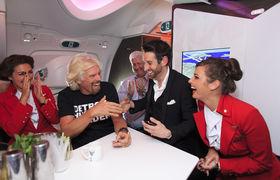 Richard Branson Virgin Atlantic Detroit