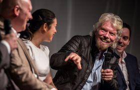 Richard Branson at the Virgin Media Business VOOM 2016 launch event