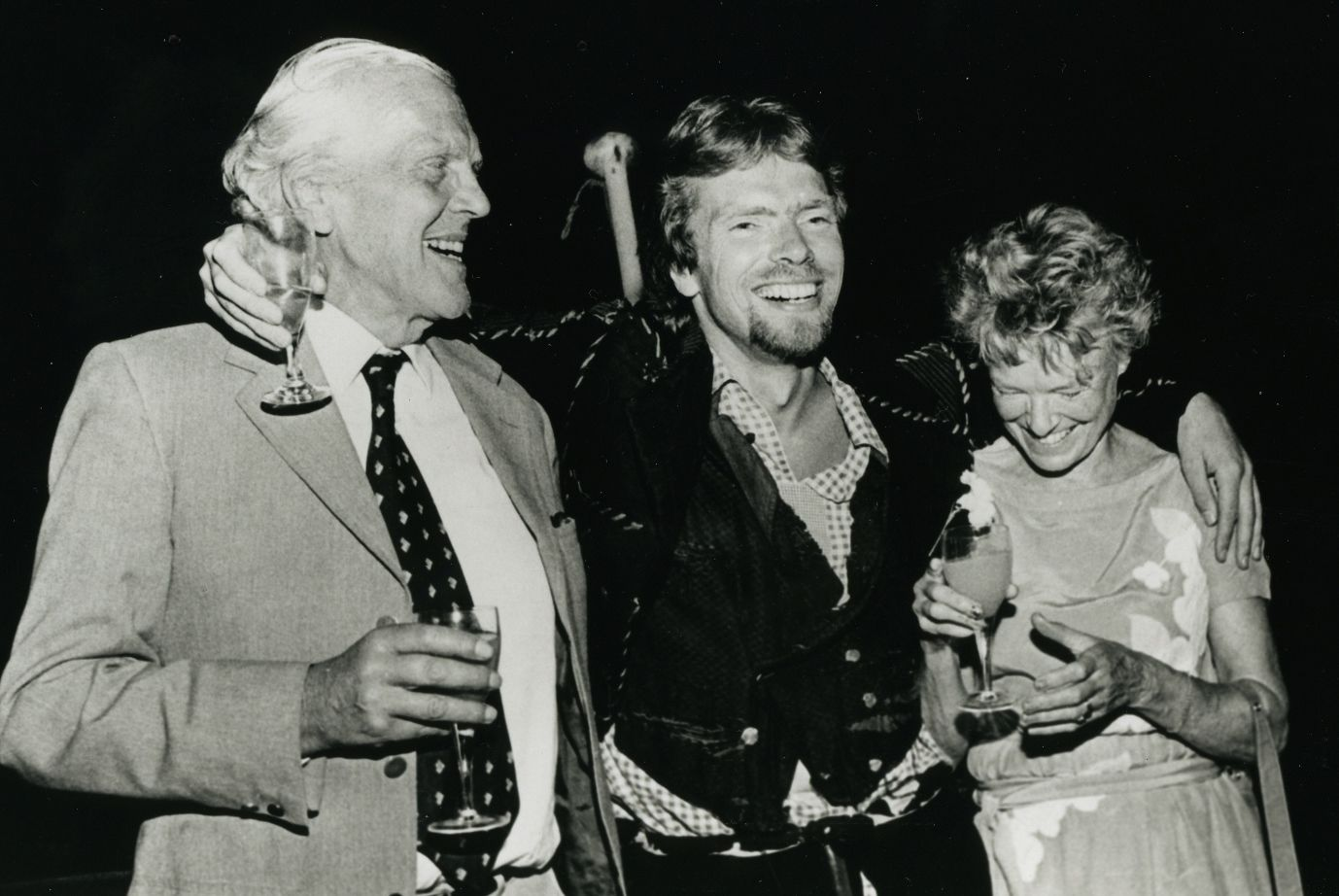 Ted Branson Richard Branson and Eve Branson