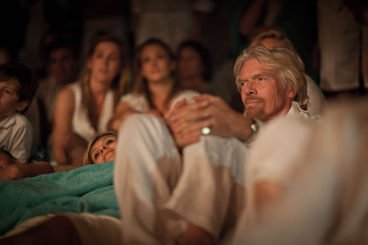 Richard Branson at Holly's wedding