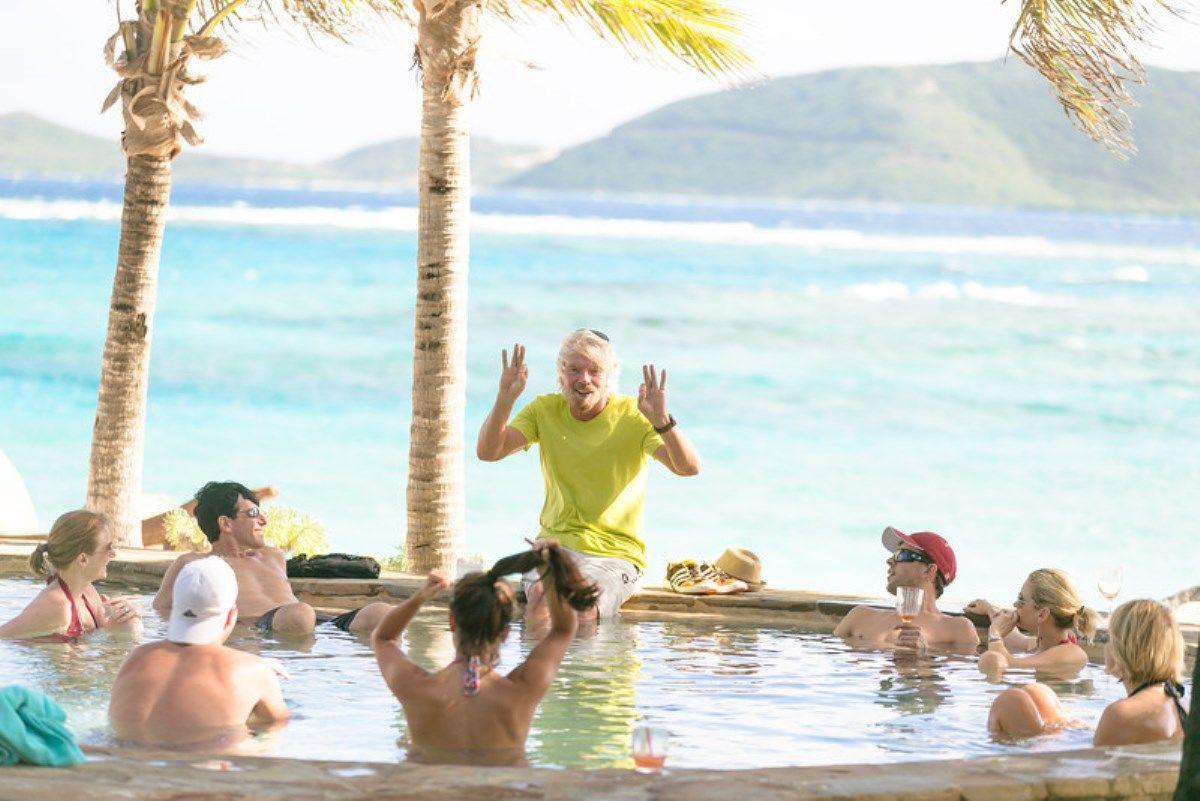 Richard Branson Necker Island pool