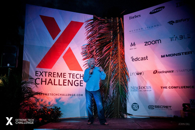 Richard Branson microphone Extreme Tech Challenge 2016 XTC