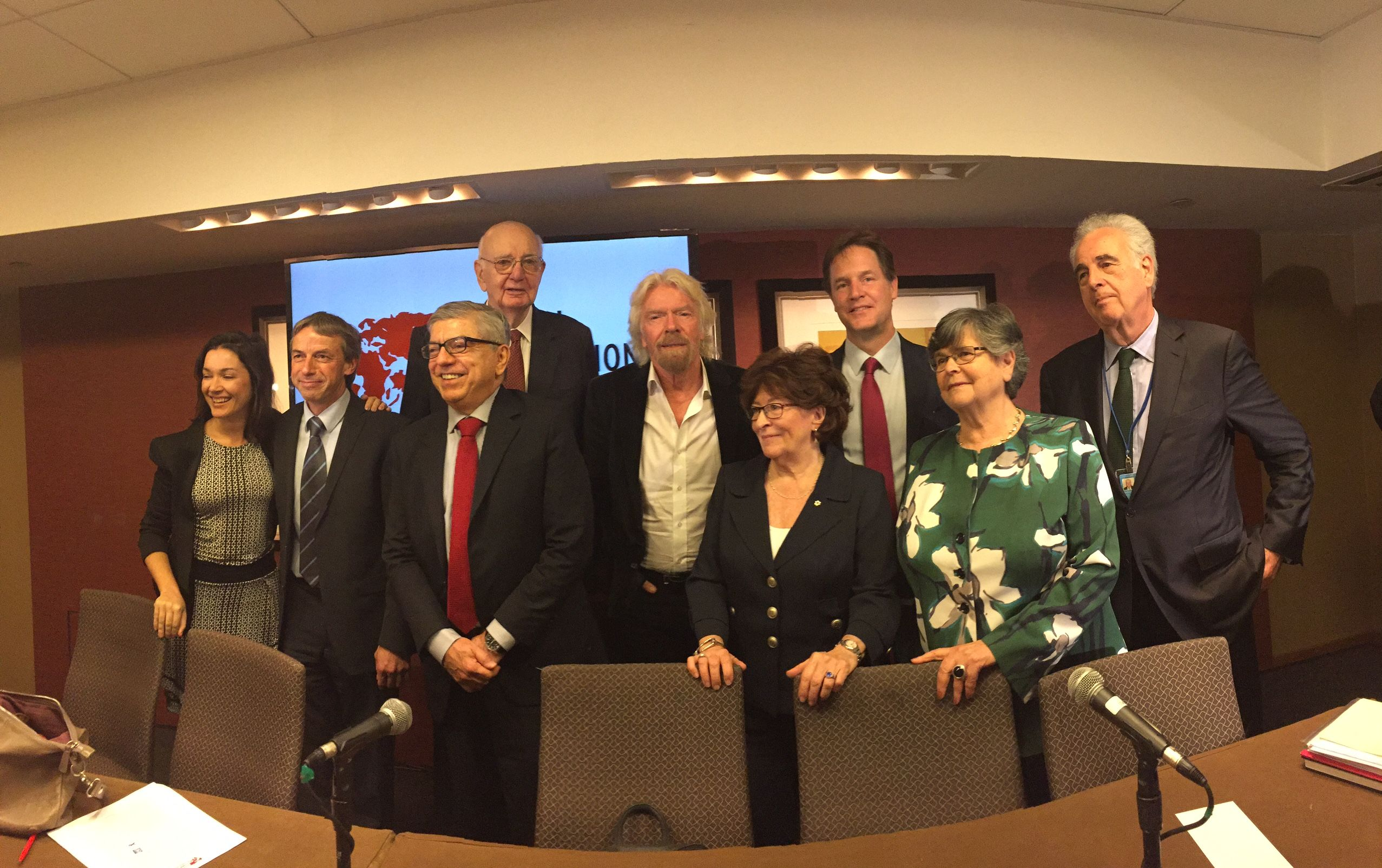 Richard Branson and the Global Commission on Drug Policy, New York UNGASS 2016