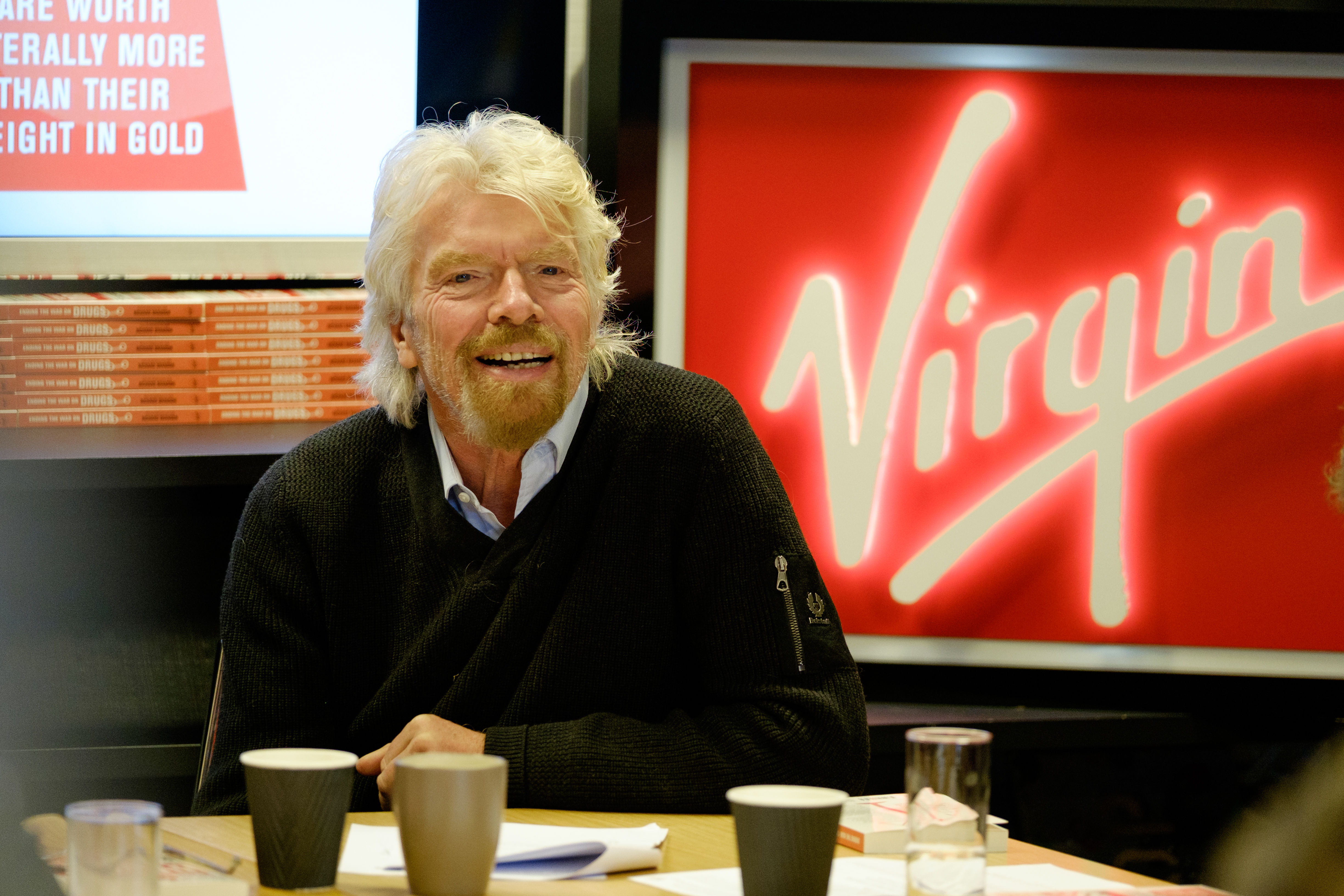 Richard Branson Virgin Headshot
