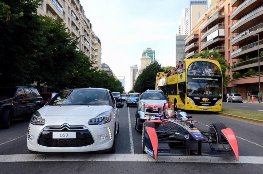 DS Virgin Racing Buenos Aires Test Drive