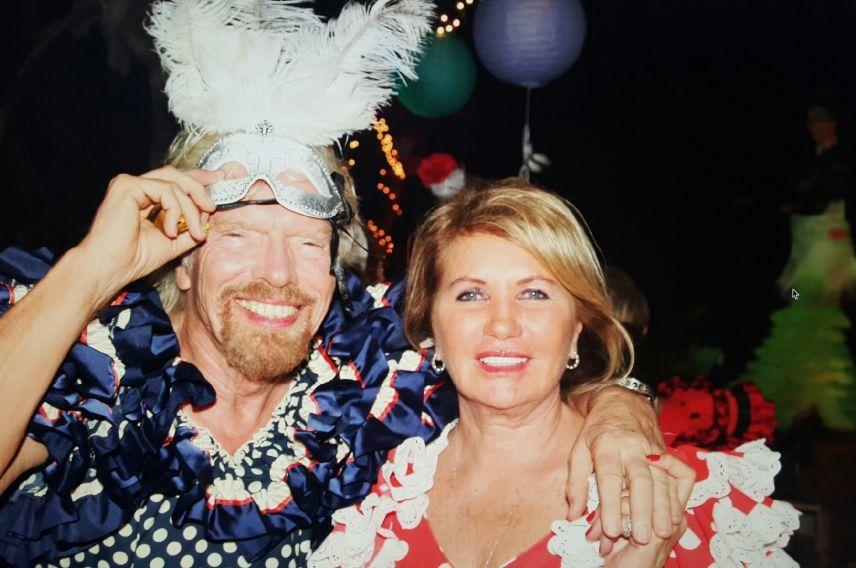 Richard Branson and Joan Branson 2015 wedding anniversary