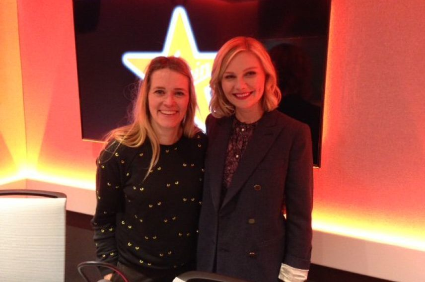 Edith Bowman meets Kirsten Dunst at Virgin Radio UK