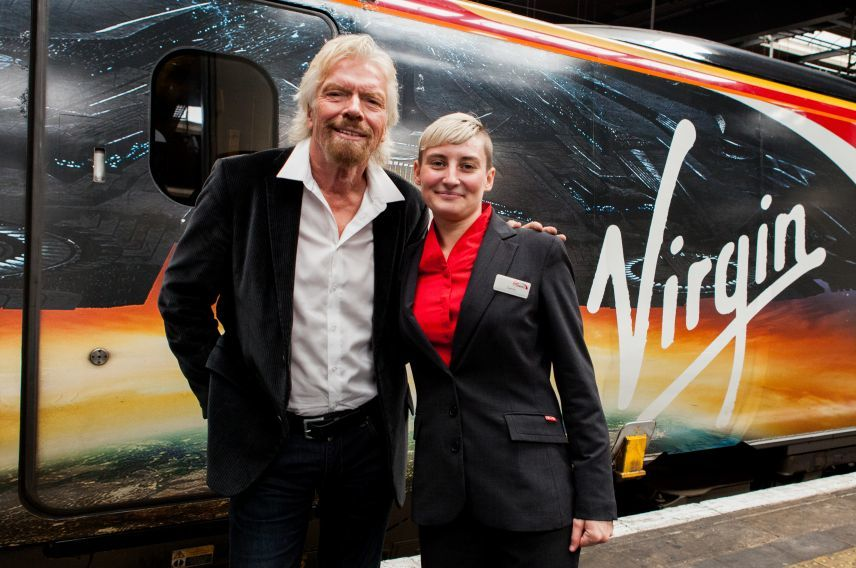 Richard Branson and Tammy Moreton, Virgin Trains ex-offender
