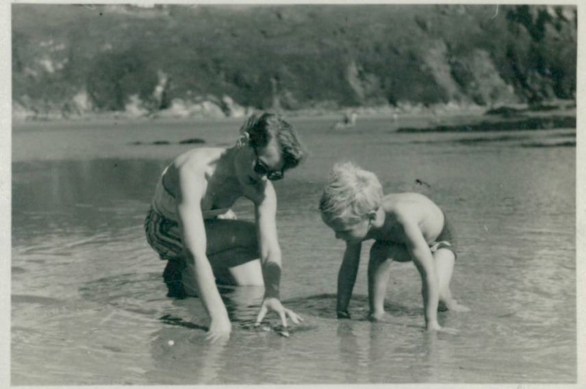 Richard Branson as a child with Eve Branson