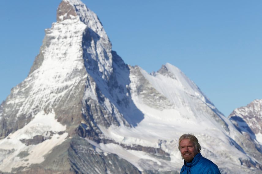 Richard Branson Matterhorn Strive Challenge