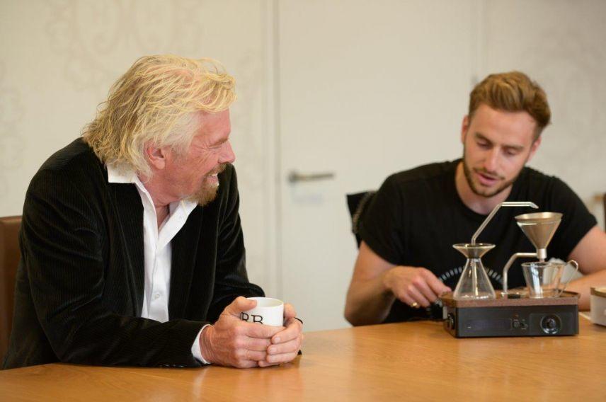 Richard Branson and Barisieur founder Josh Renouf