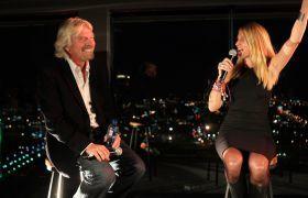 Richard Branson and Jean Oelwang