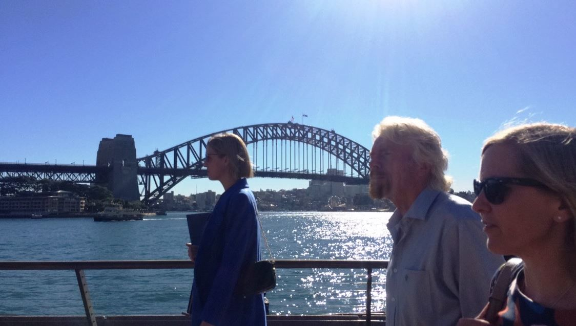 Richard Branson in Sydney