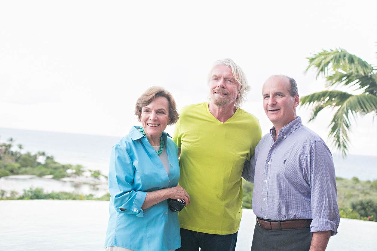 Richard Branson, José María Figueres and Christiana Figueres