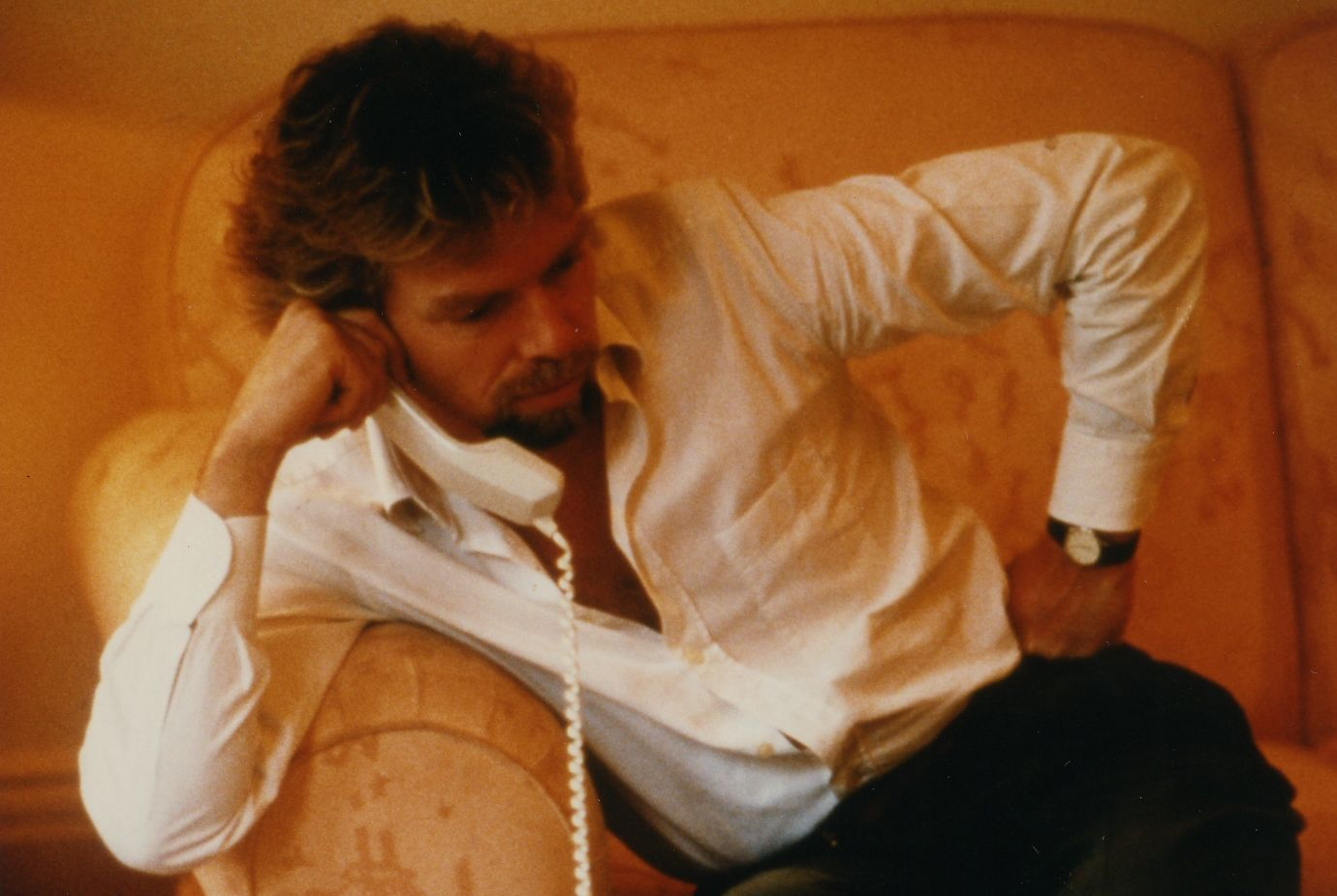 richard branson on the phone