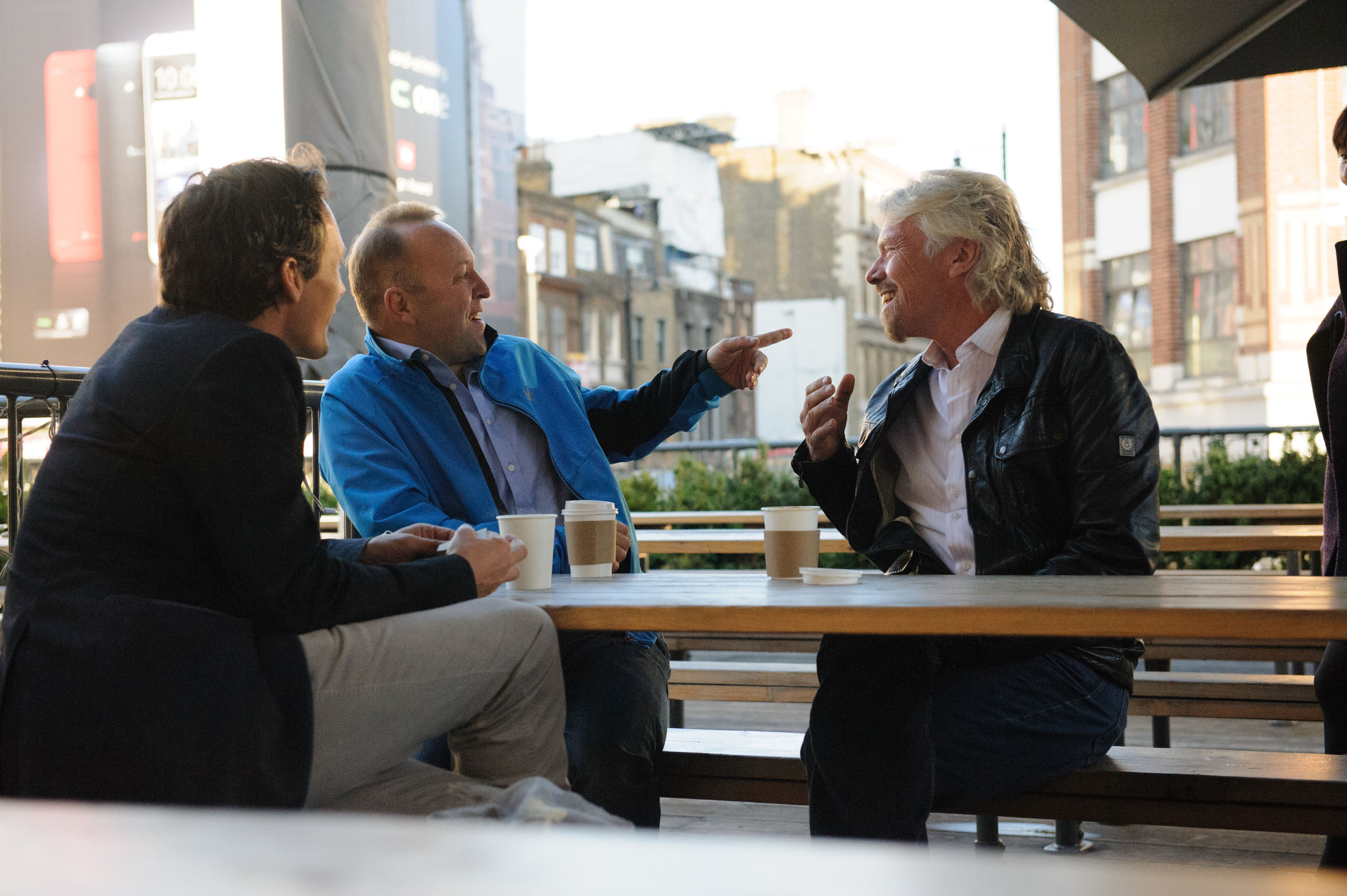 Richard Branson in a meeting