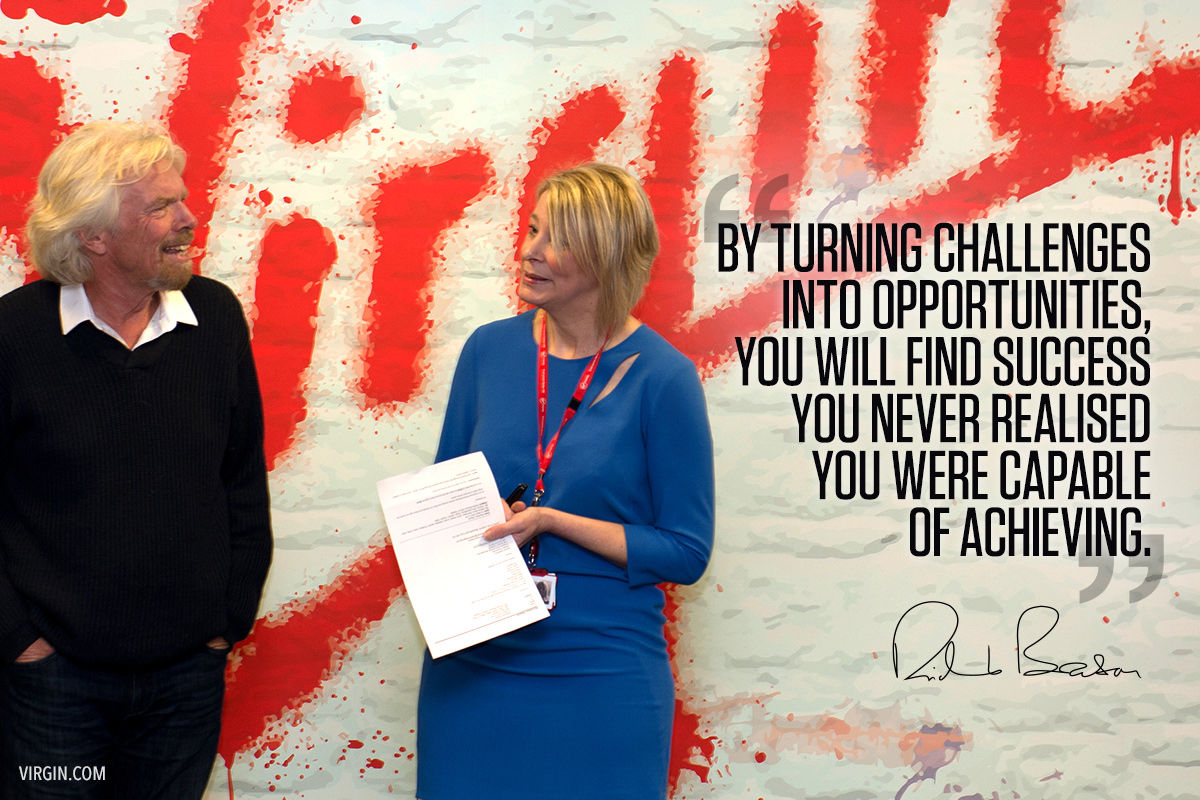 Image result for richard branson quotes by turning challenges