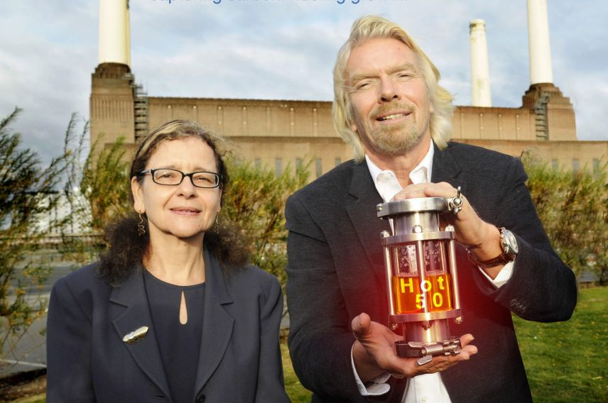 Richard Branson Virgin Atlantic and LanzaTech's low carbon ethanol fuel